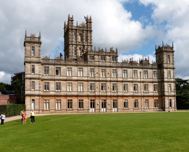 Highclere Castle; the sign post for and gate to the Secret Garden, below