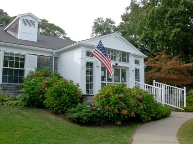 The Vineyard Haven Public Library, a stone's throw from our house. Lucky me.