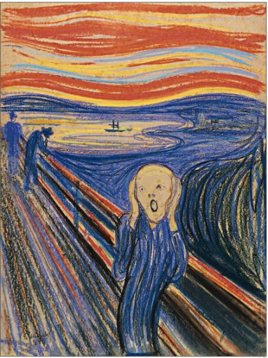 "Edvard Munch's ""The Scream,"" pastel, 1895"
