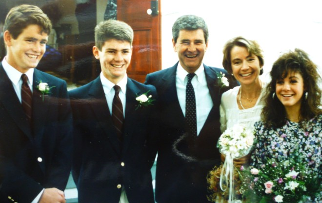 Nuptial Day October 1988 -- John Gordon, Zachary, Jack, the bride and Stephanie