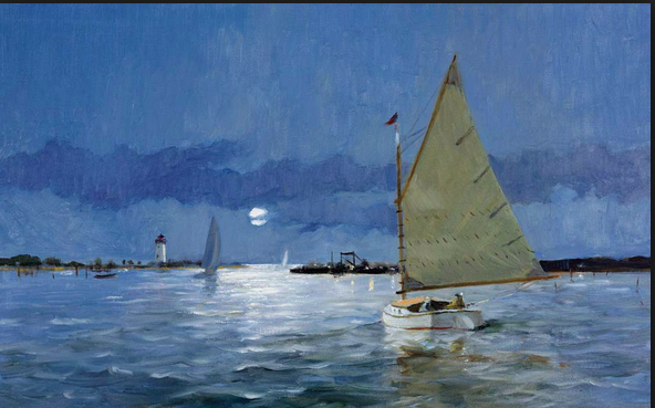Edgartown harbor by the late Ray Ellis